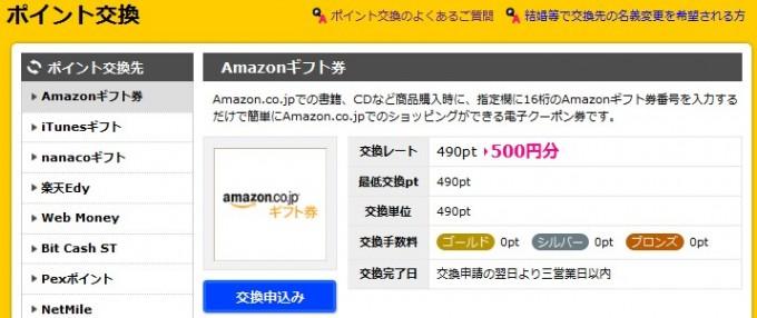 Amazonギフト券-ハピタス