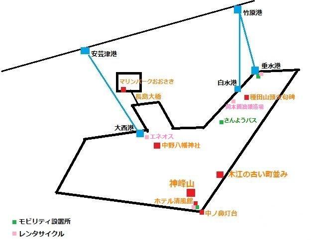 大崎上島簡略図