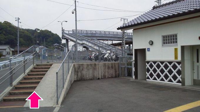 安芸津駅の歩道橋