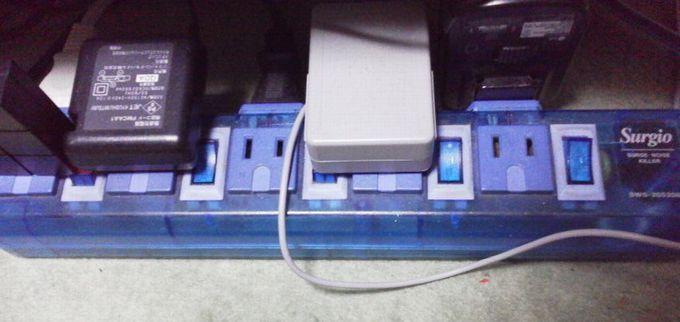 スイッチ付き電源タップ