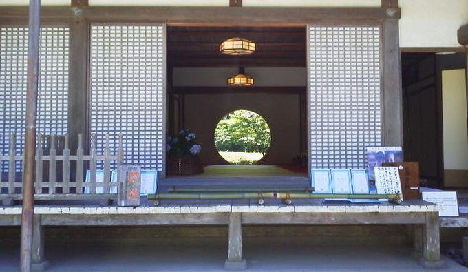 円形窓-明月院