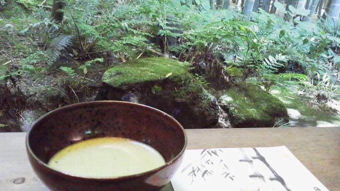 抹茶と菓子-報国寺