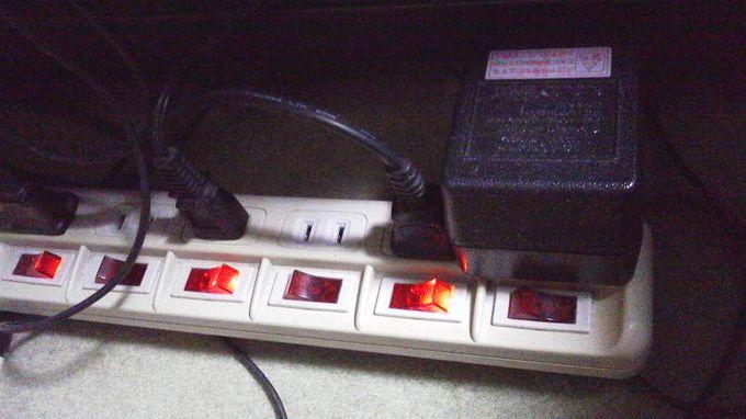 電源タップスイッチ付き