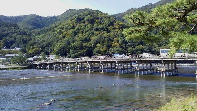 嵐山渡月橋-京都