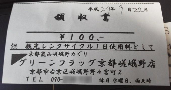 領収書グリーンフラッグ-京都