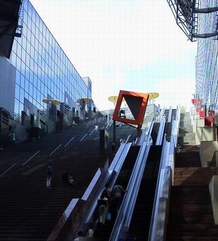 大階段-京都駅屋上