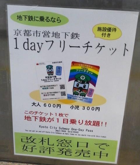 京都地下鉄フリーチケット