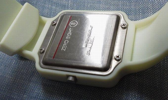 腕時計の裏側