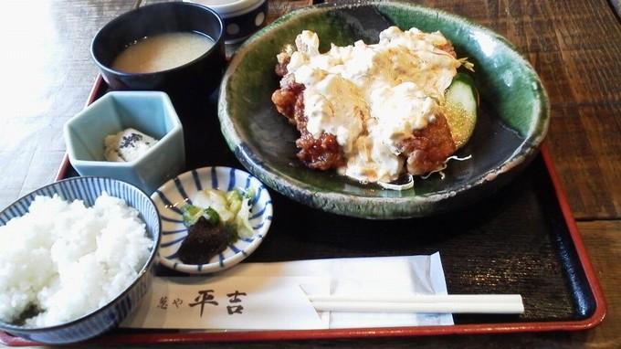 唐揚げタルタル定食-葱や平吉