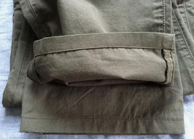 仕上がり-無印良品裾上げ