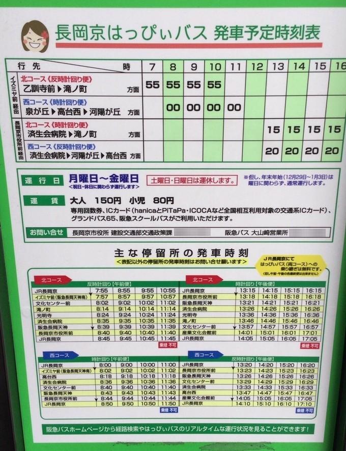 はっぴぃバス時刻表ルート-光明寺