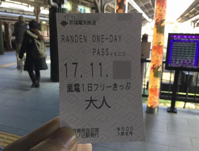 嵐電1日フリーきっぷ