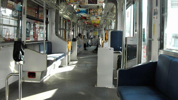 広電広島路面電車内