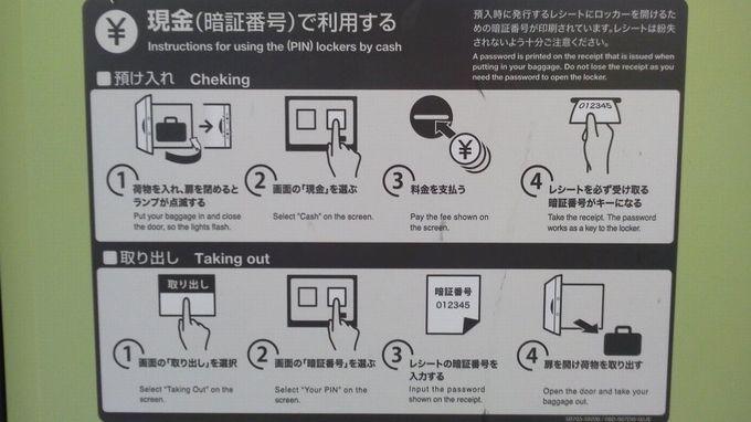現金払い-東京駅コインロッカー
