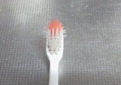 お湯につけた後の歯ブラシ比較