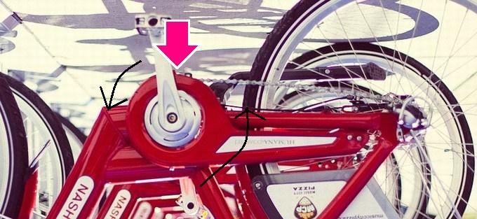 逆さま自転車アップ
