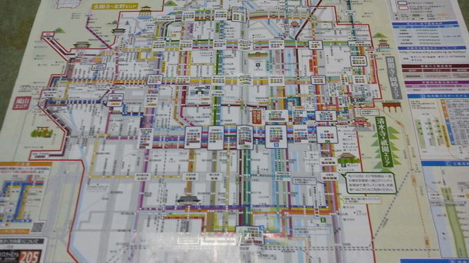 京都バスの路線図