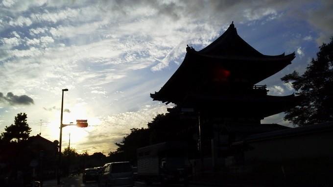 夕日-仁和寺