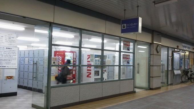 広島駅のコインロッカー