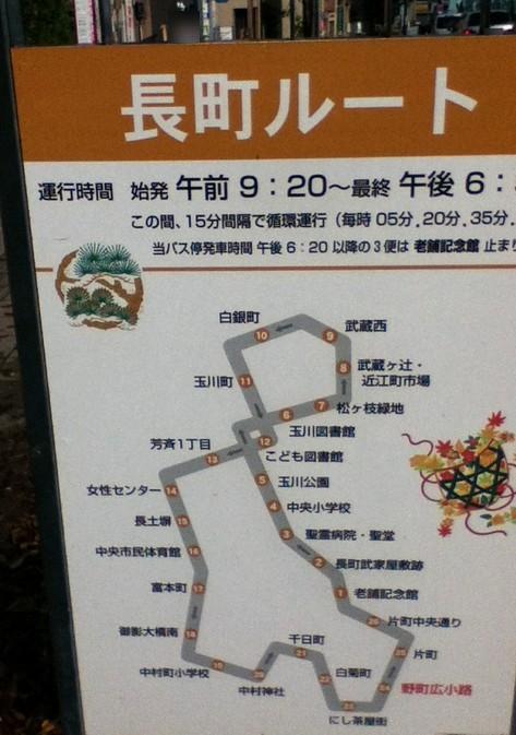 ふらっとバスの長町ルート-金沢
