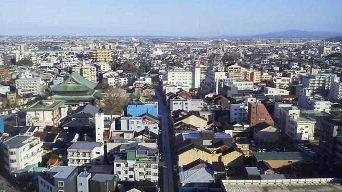 ラウンジからの眺め-ANAホリデイ・イン金沢スカイ