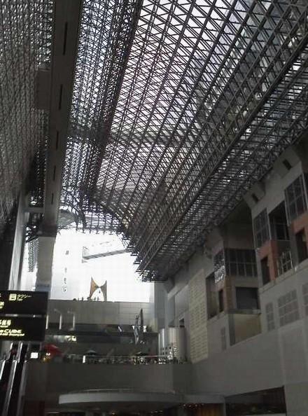 京都駅アーチ型の鉄骨