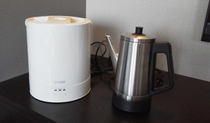 加湿器と電気ケトル-広島ワシントンホテル