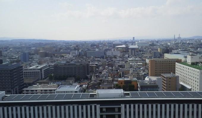 眺め-京都駅屋上