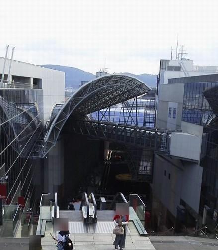 下りる-京都駅屋上