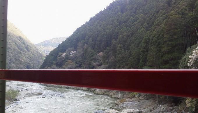 保津峡景色-トロッコ列車京都