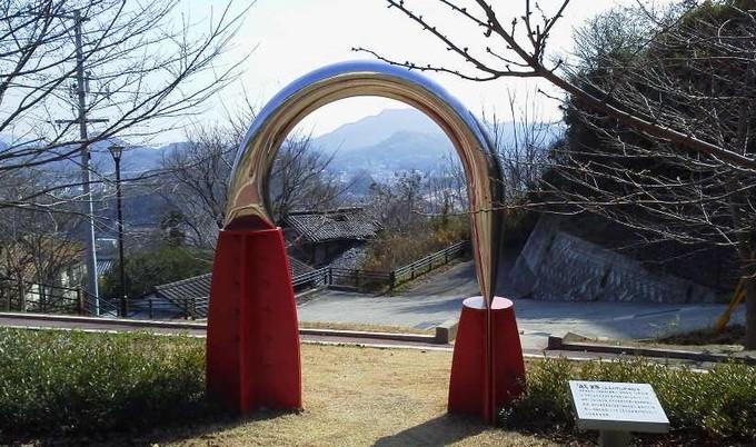恋人の広場オブジェ-尾道千光寺公園