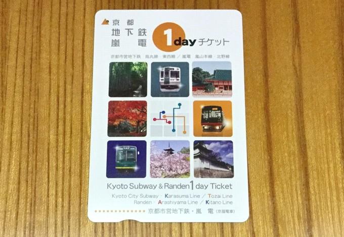 京都地下鉄・嵐電ワンデーチケット