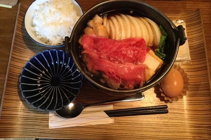 すき焼き定食1-佰食屋すき焼き専科京都